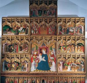 Retablo Virgen con Niño.Nicolás Francés .SXV Museo del Prado