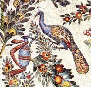 Mosaicos del Mausoleo de Santa Constanza, Roma, construido hacia el 300