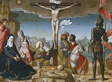 Crucifixión.Juan de Flandes.Museo del Prado SXV