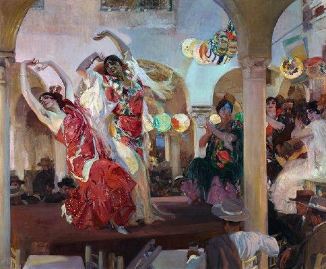 Baile en el Café novedades de Sevilla, 1914. Óleo sobre lienzo. 246X295 cm. Colección Banco Santander.