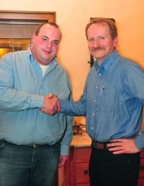 Dominik Pieper (l.) ist neuer Vorsitzender des Musikvereins. Er löst Ralf Barylla ab.