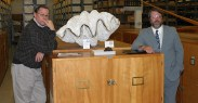 Tom Watters (right) at the Mollusc Collection, 2005