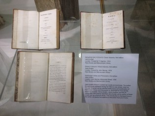 First edition Jane Austen novels courtesy of Ohio State Rare Books and Manuscripts Library