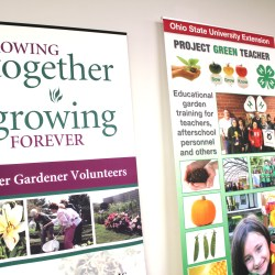 """These banners feature some of Franklin County Extension's other programming - such as """"Master Gardeners"""" and """"Project Green Teacher."""""""