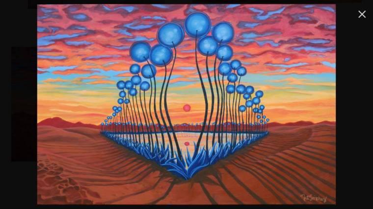 Part of Natalia Sanchez's series that turns people's essences into landscape art (http://www.natsanchez.com).