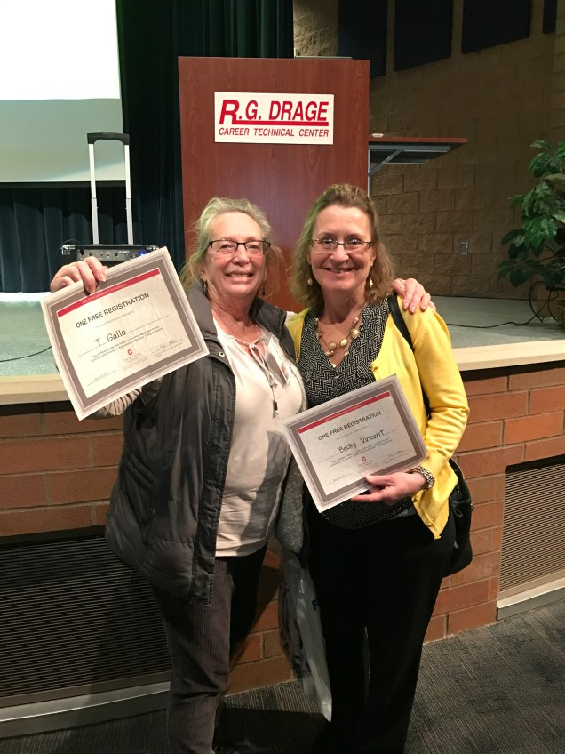 Two women won free registrations for the 2018 conference!