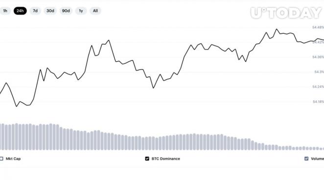CoinMarketCap Bitcoin hakimiyeti oranı