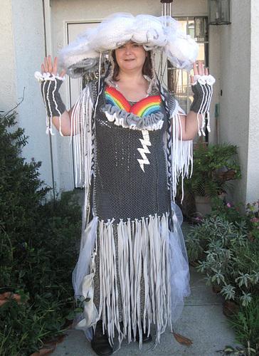 Crocheted Rainstorm Costume