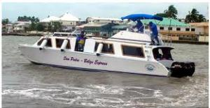 Water taxi that will complete the last leg of our trip to Belize.