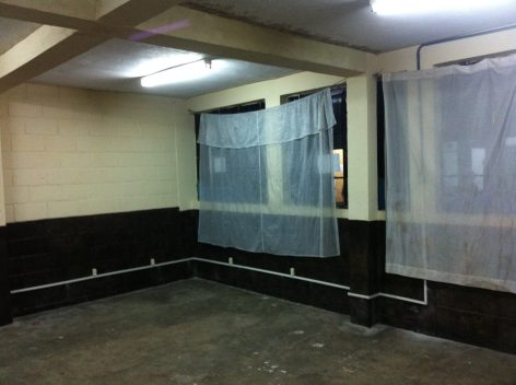 The lab has been painted and prepped for the January team to build desks and install the computers!