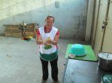 Olga making the first tortilla
