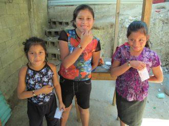 The Vasquez girls showing off their salvation bracelet!