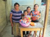 The Vasquez family with their blessing basket