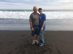 Exploring the black sand beaches of Monterico, Guatemala thanks to some friends who took us there!