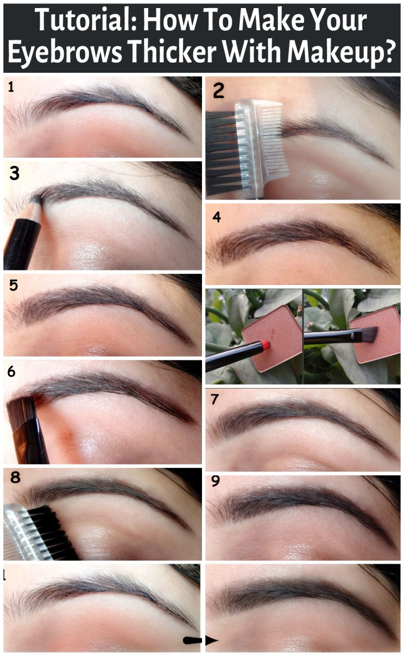 How To Make Your Eyebrows Fuller With Makeup Makeupview