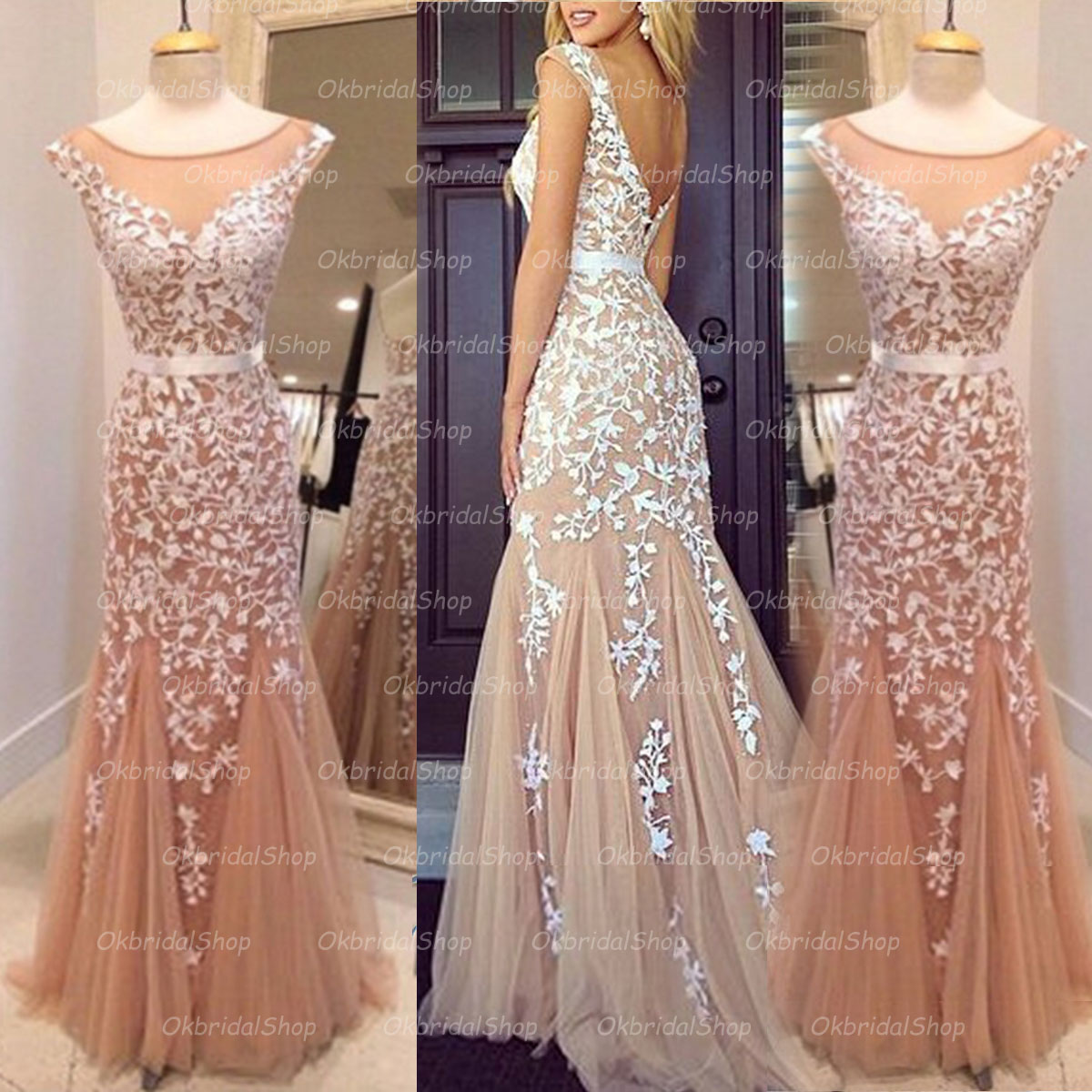Fancy Red High Low Prom Dresses