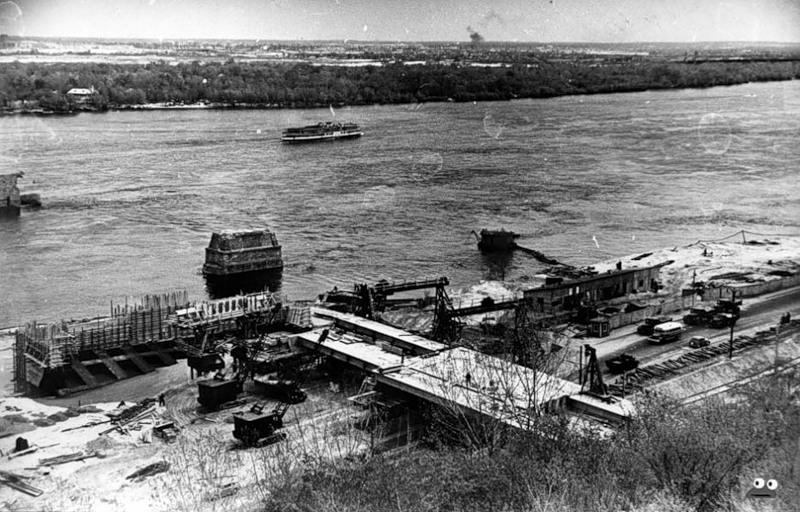 Строительство станции метро Днепр, конец 1950-х годов