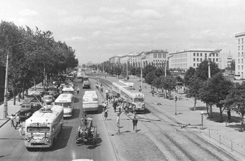 Таким в 1960-х годах был проспект Победы