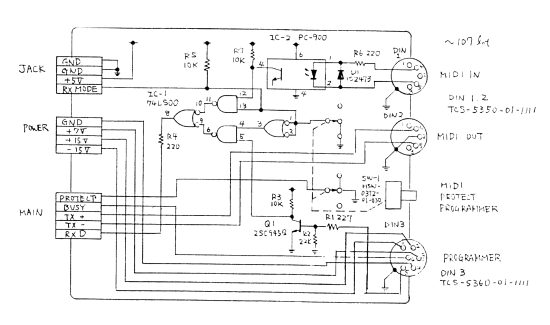 JX3P DIN board schematic