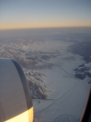 Sunrise over Karakoram Range, Pakistan. EK-322, DXB - ICN