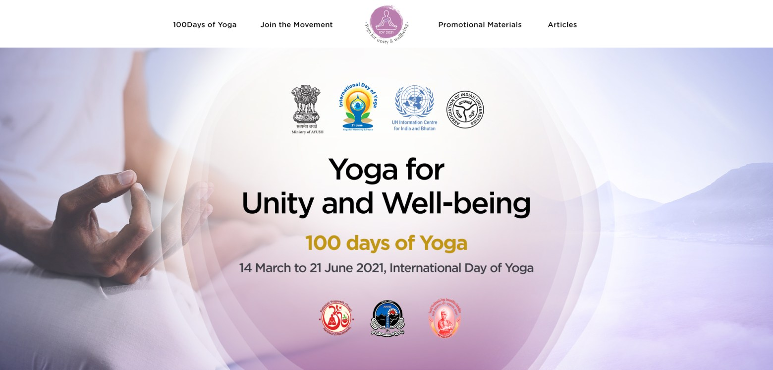 """""""Yoga for Unity and Well-being"""" 14 March to 21 June 2021,"""