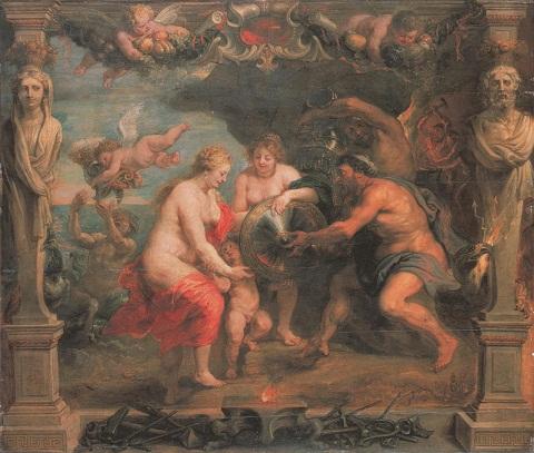 P.P.Rubens y Taller, Tetis recibiendo las armas para Aquiles (modelo)
