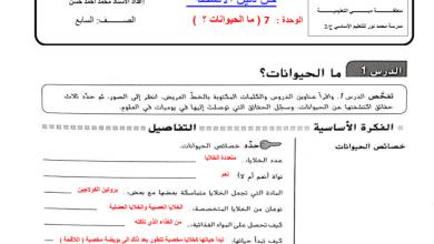 Photo of حل دليل الأنشطة الوحدة 7 علوم للصف السابع الفصل الثاني