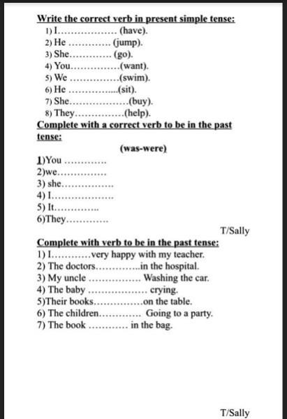 أوراق عمل اللغة الإنجليزية للصف الثالث فصل ثالث