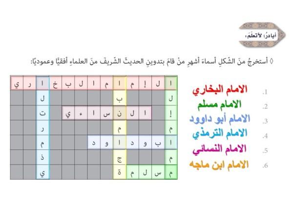 حل درس الإمام مسلم