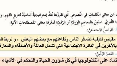 Photo of الإدمان على الانترنت لغة عربية صف ثامن فصل أول