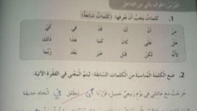Photo of حل الوحدة  الخامسة من كتاب النشاط  لغة عربية صف خامس فصل ثاني