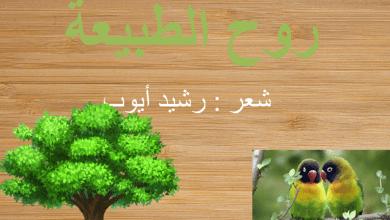 Photo of درس روح الطبيعية عربي الصف الثامن الفصل الثاني