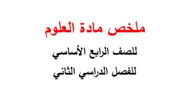 Photo of صف رابع فصل ثاني علوم  تلخيص الغلاف الجوي