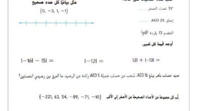 Photo of صف سادس رياضيات ورق عمل لامتحان نهاية الفصل الثاني