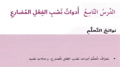Photo of صف ثامن فصل ثاني لغة عربية حلول درس أدوات نصب الفعل المضارع