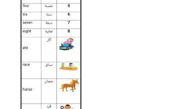 Photo of صف ثالث فصل ثاني مفردات الدرس السابع والتاسع من الوحدة الخامسة لغة إنجليزية