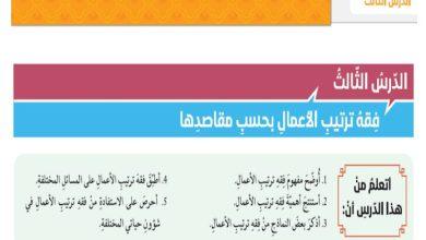 Photo of صف ثاني عشر فصل ثاني تربية إسلامية فقه ترتيب الأعمال بحسب مقاصدها