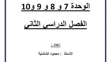Photo of مذكرة رياضيات شاملة يتبعها الحلول صف خامس فصل ثاني