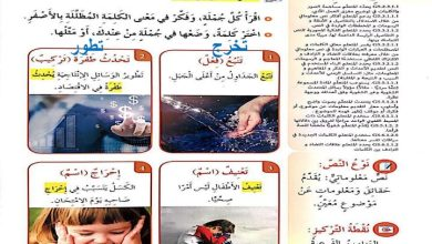 Photo of صف خامس فصل ثاني لغة عربية حل الانتصار على الخجل