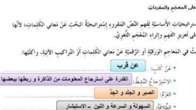 Photo of حل درس التعلم مؤلم ولكن يجب ان يكون لغة عربية صف سابع فصل ثاني