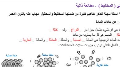 Photo of صف خامس فصل ثاني علوم تلخيص المخاليط والتغيرات الكيميائية