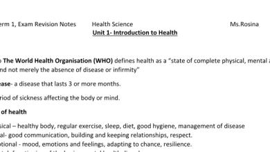 Photo of أوراق عمل علوم صحية صف حادي عشر فصل أول
