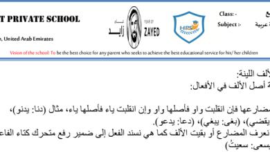 Photo of شرح الألف اللينة لغة عربية صف رابع فصل ثاني