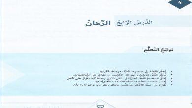 Photo of حل درس قصة الرهان لغة عربية صف سابع فصل ثاني