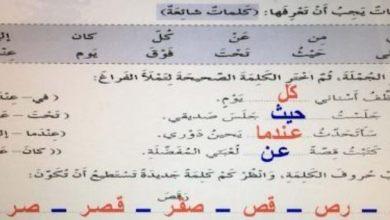 Photo of صف ثالث فصل ثالث حلول لغة عربية الوحدة الخامسة كتاب النشاط