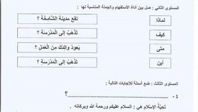Photo of صف ثاني فصل ثاني ورق عمل لغة عربية أسلوب الاستفهام