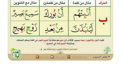 Photo of صف سادس فصل ثاني تربية إسلامية تلخيص احكام النون الساكنه والتنوين