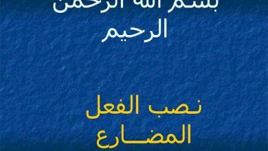 Photo of شرح نصب الفعل المضارع لغة عربية صف ثامن فصل ثاني