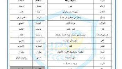 Photo of ورقة عمل معطفي القرمزي لغة عربية صف رابع فصل ثاني