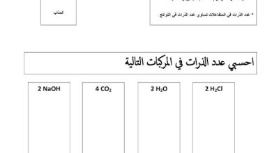 Photo of صف خامس فصل ثاني علوم ورقة عمل المركب والخليط الكيميائي